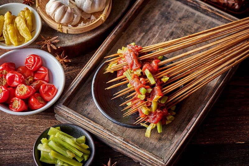 贡菜牛肉串串