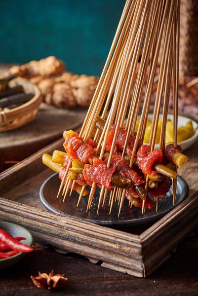 泡辣椒牛肉串串