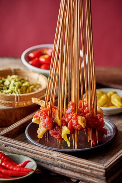 酸菜牛肉串串